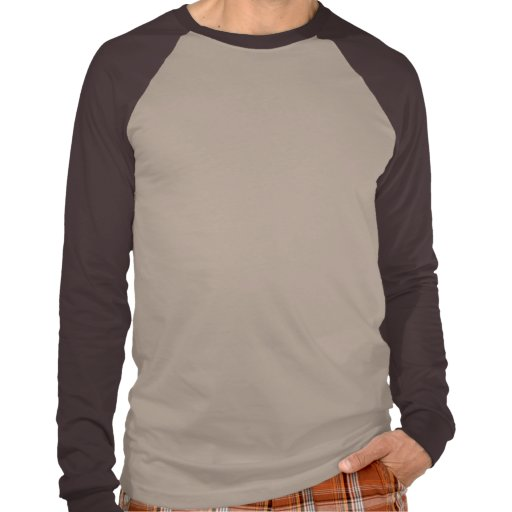Mens Basic Long Sleeve Raglan Tan/Brown Shirts