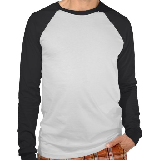 Mens Basic Long Sleeve Raglan White/Black T Shirt