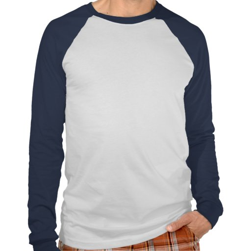 Mens Basic Long Sleeve Raglan White/Navy T Shirts