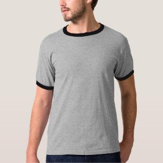 Men's Basic Ringer T-Shirt GREY BLACK