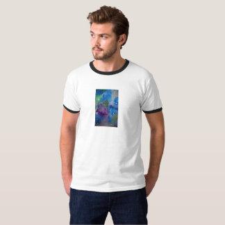 Men's Basic Ringer T-Shirt w/text large