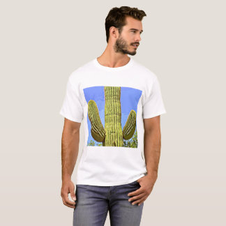 "Men's Basic ""Saguaro in Cartoon"" Tee Shirt"