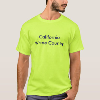 Mens Basic T-Shirt w/ California Whine Country