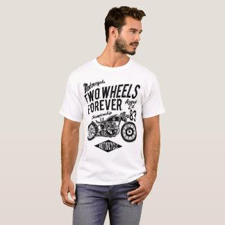 mens basic tshirt - two wheels forever motorcycle