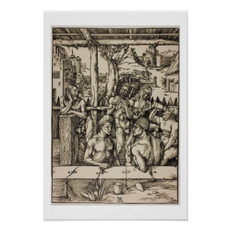 Men's Bath by Albrecht Durer Poster