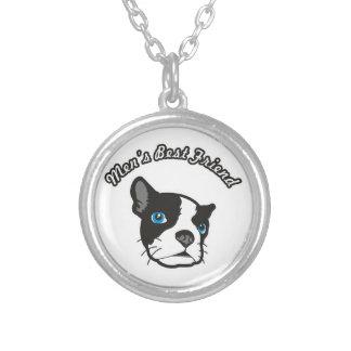 Men's Best Friend Silver Plated Necklace