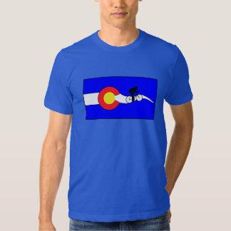 Men's bike colorado flag t-shirt