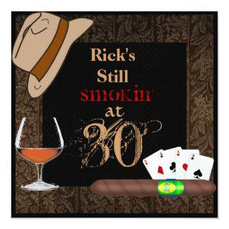 MENS Birthday Cigars,Poker FEDORA Hat INVITATIONS