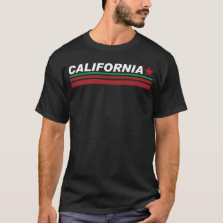 Mens Black Crew Neck California Style T-shirt