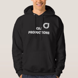 Men's Black Hooded Sweatshirt with Logo