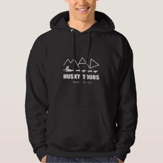 Men's Black Hoodie MAD Husky Tours design