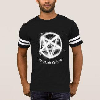 Men's Black Pentagram Football Jersey Tshirt