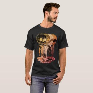 Men's Black Skull Spit T - Shirt