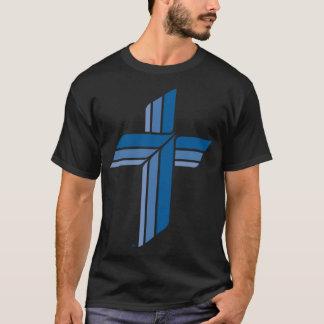 Men's Blue Cross, Black Basic Dark T-Shirt