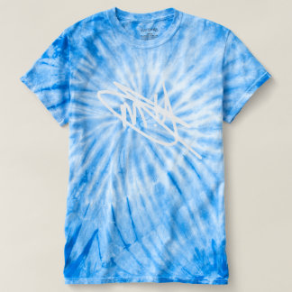 Men's Blue Tie Die Signature T-Shirt