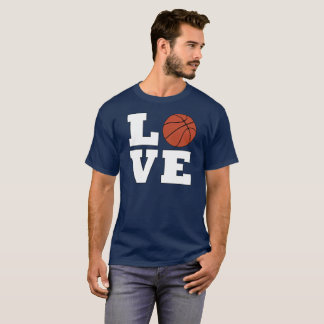 Men's Bold Basketball LOVE Player or Coach T-shirt