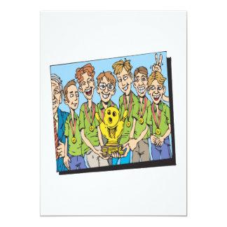 Mens Bowling Team Champions 13 Cm X 18 Cm Invitation Card