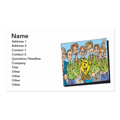 Mens Bowling Team Champions Business Card