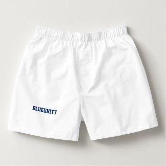 "Men's Boxercraft ""BLUEUNITY"" Cotton Boxers"