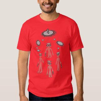 """Mens/boys tee short sleeve red gray """"Aliens"""""""