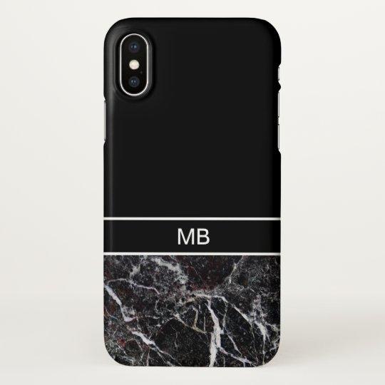 Men's Business Professional Monogram iPhone X Case