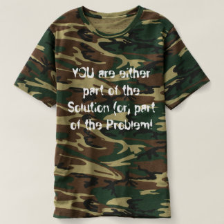 Men's Camoflauge T-shirt promoting the GOD within!