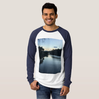 Men's Canvas Long Sleeve Raglan T Shirt. T-Shirt