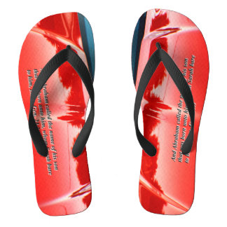 Men's car reflection with text flip flops