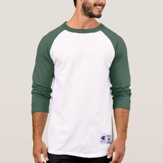 Men's Champion Raglan 3/4 Sleeve Shirt GREEN DARK
