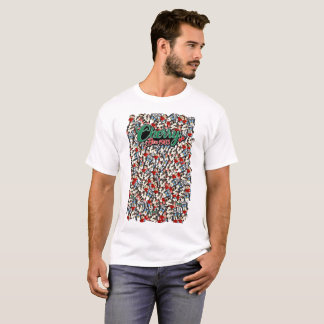 Mens Cherry Farm Emote Explosion Shirt - White