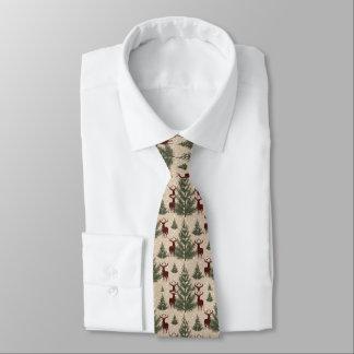 Men's Christmas Deer Tie
