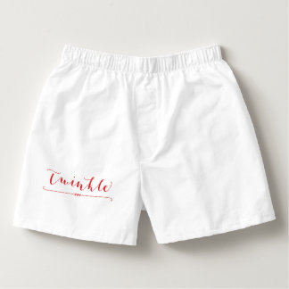 Mens Christmas Underwear White Mens Boxers Twinkle