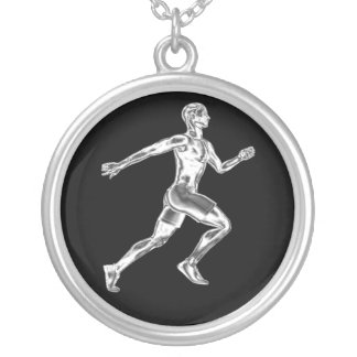 Mens Chrome Runner Necklace