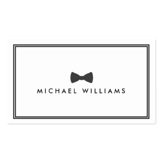 Men's Classic Bow Tie Logo - Black and White Business Card Template