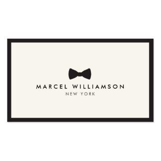 Men's Classic Bow Tie Logo Black/Ivory Pack Of Standard Business Cards