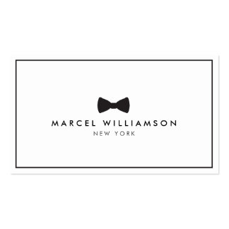 Men's Classic Bow Tie Logo Black/White Pack Of Standard Business Cards