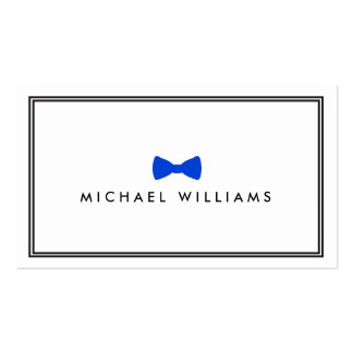 Men's Classic Bow Tie Logo - Blue and White Pack Of Standard Business Cards