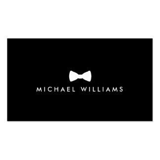 Men's Classic Bow Tie Logo - White and Black Business Card