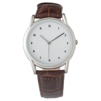 Mens Classic Brown Leather Strap Watch