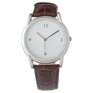 Men's Classic Brown Leather Strap Watch