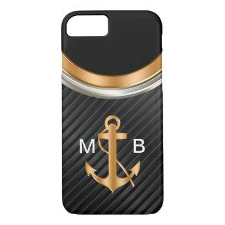 Mens Classy Nautical Monogram Anchor iPhone 8/7 Case