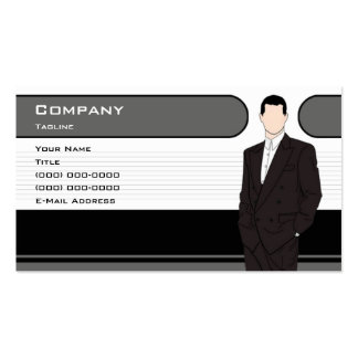 Men's Clothing Business Card Template
