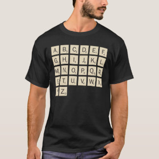 Men's Colored Personalized Scrabble T-Shirt