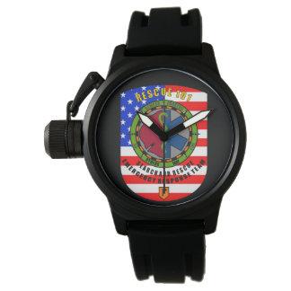 Men's Crown Protector Black Rubber Strap Watch