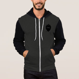 Men's Crowned King Canvas Zip-hoodie Hoodie