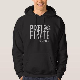 Men's Dark Hoodie Sweatshirt - Pixel Pirate Games