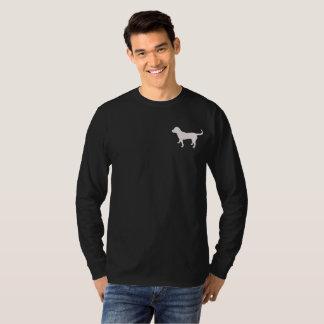 Men's Dark Long Sleeve Shirt Black Lab Silhouette