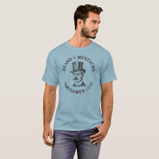 Men's Dark T-Shirt Beard and Mustache Gentlemen