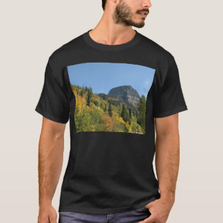 Men's Dark T-Shirt Fall in Glacier National Park