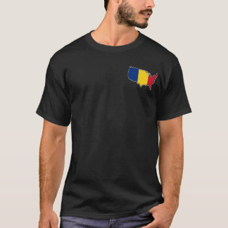 Men's Dark T-Shirt: Romanian in USA T-Shirt